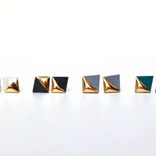 Small Square Stud Earrings