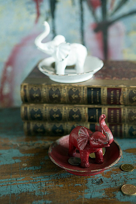 Elephant Pewter Jewelry Dish