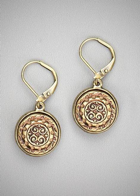 Antique Button Ear Rings