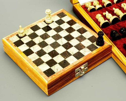 Stone Travel Chess Set - 2 sizes