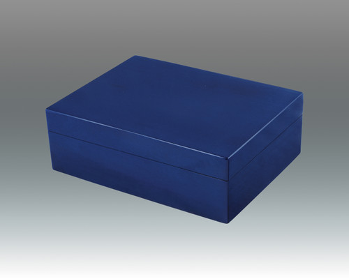 Blue Wood Accessories & Jewelry Box