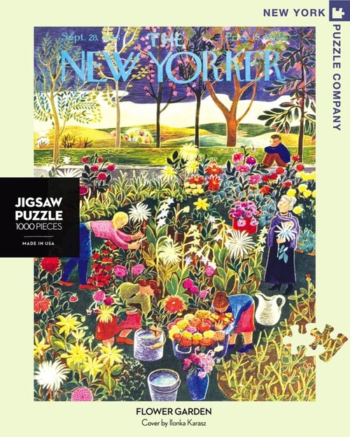 Flower Garden New Yorker Cover Puzzle
