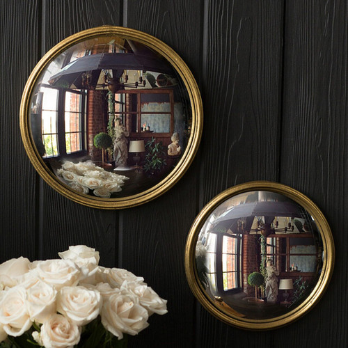 Bull's Eye Gold Leaf Mirror - 2 sizes