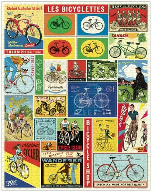Vintage Bicycles Puzzle