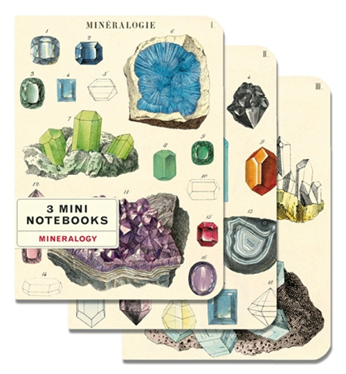 Mineralogie - set of 3 Small Notebooks