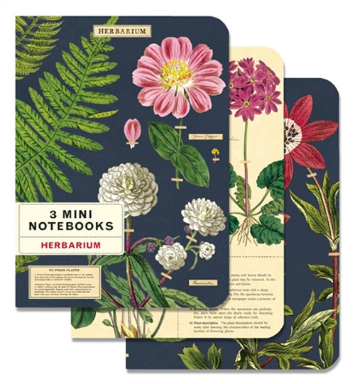 Herbarium - set of 3 Small Notebooks