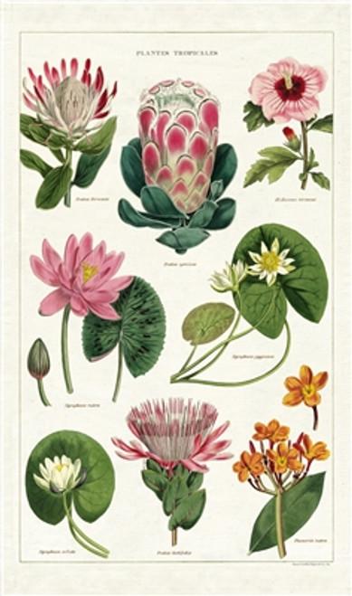 Tropical Plants Tea Towel