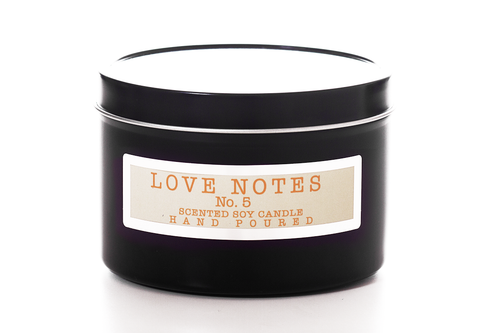 Love Notes Travel Sized Candles