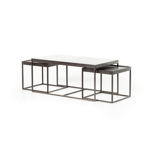 Marble and Iron Nesting Coffee Table