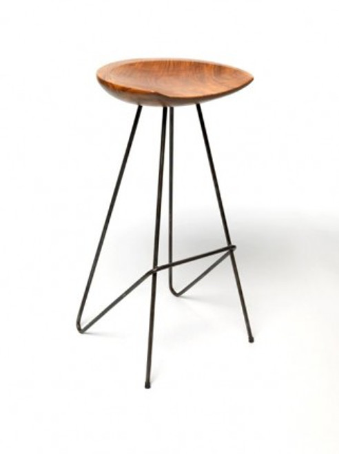 Teak Perch Stool
