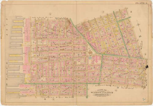 Framed Brooklyn Heights map