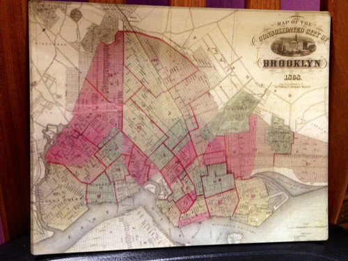 A map of the Consolodated City of Brooklyn in 1868.
