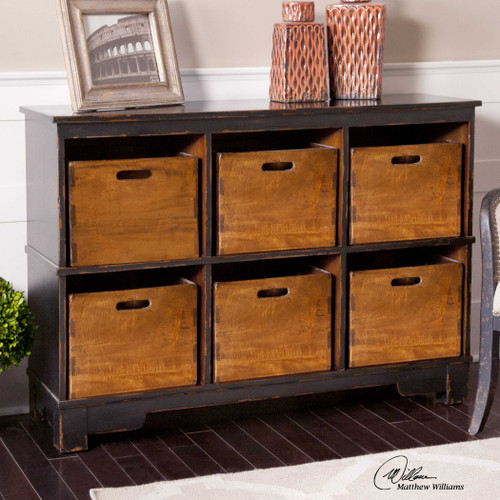 Console with Cubbies