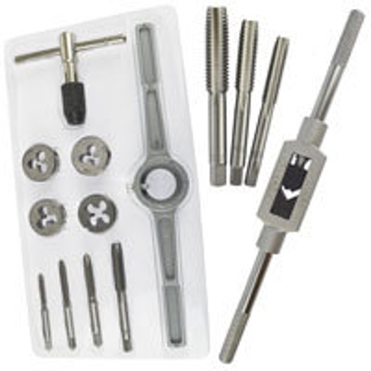 """UNF UNC Imperial SAE Tap And Die Set 1//8/"""" 1//2/"""" Coarse Fine 24pc Set"""