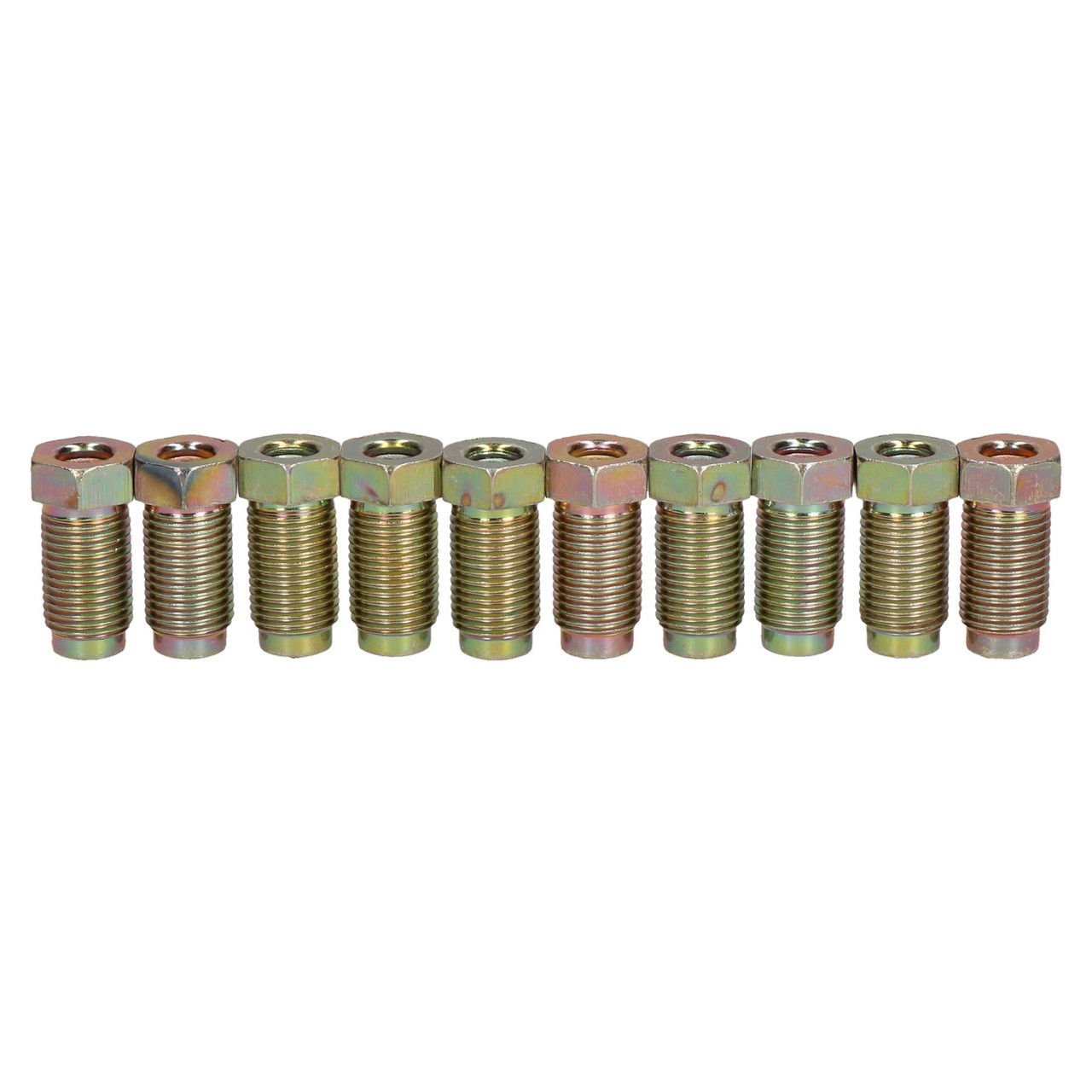 AB Tools Long Steel Male Brake Pipe Union Fittings M10 x 1mm for 3//16 Brake Pipe 10pc