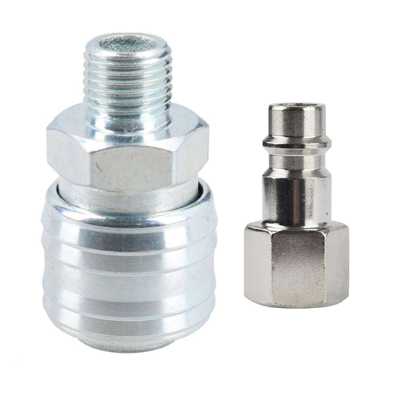 1//4 BSP Euro Air Line Hose Fitting Female Coupler /& Male Fitting Quick-Release