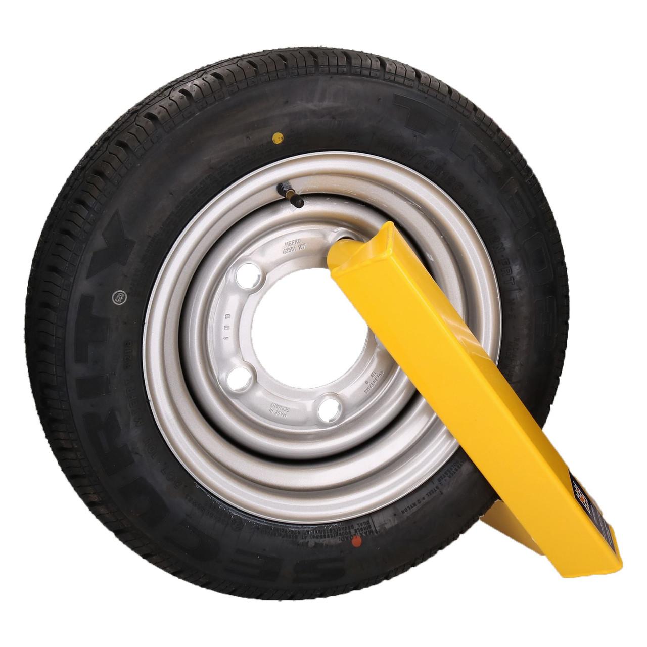 "Wheel Clamp Trailer Caravan Security Lock 12"" 13"" 14"" Insurance Approved"