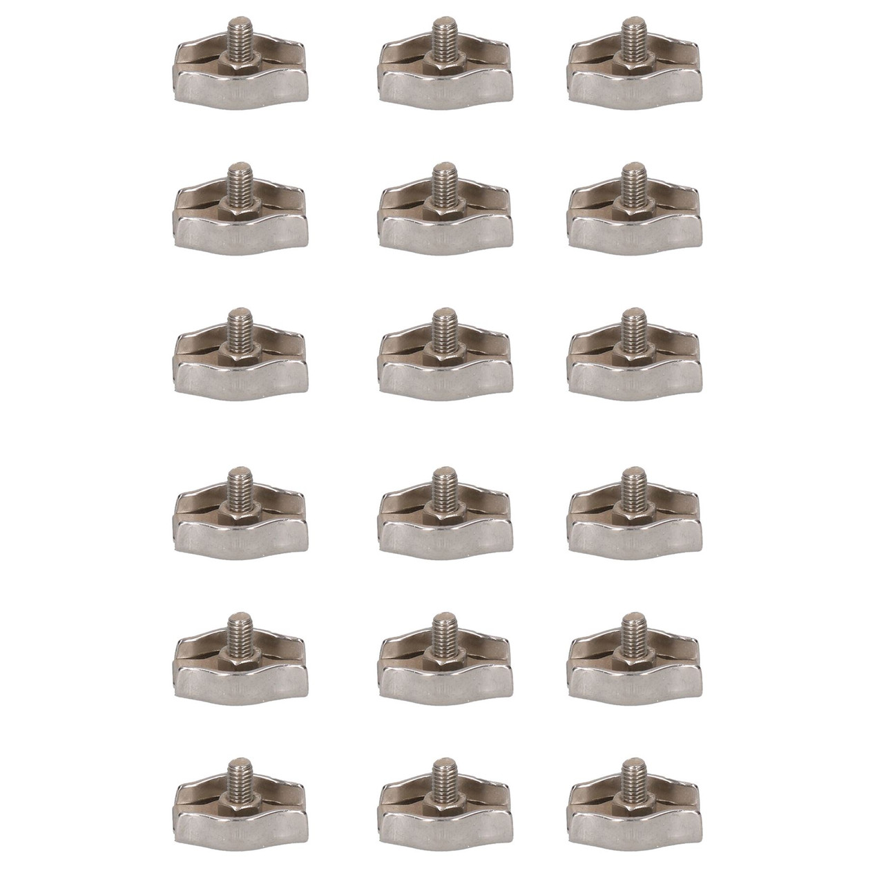 5mm Simplex Wire Rope / Cable Clamp Grips 18 PACK 316 Marine Stainless Steel