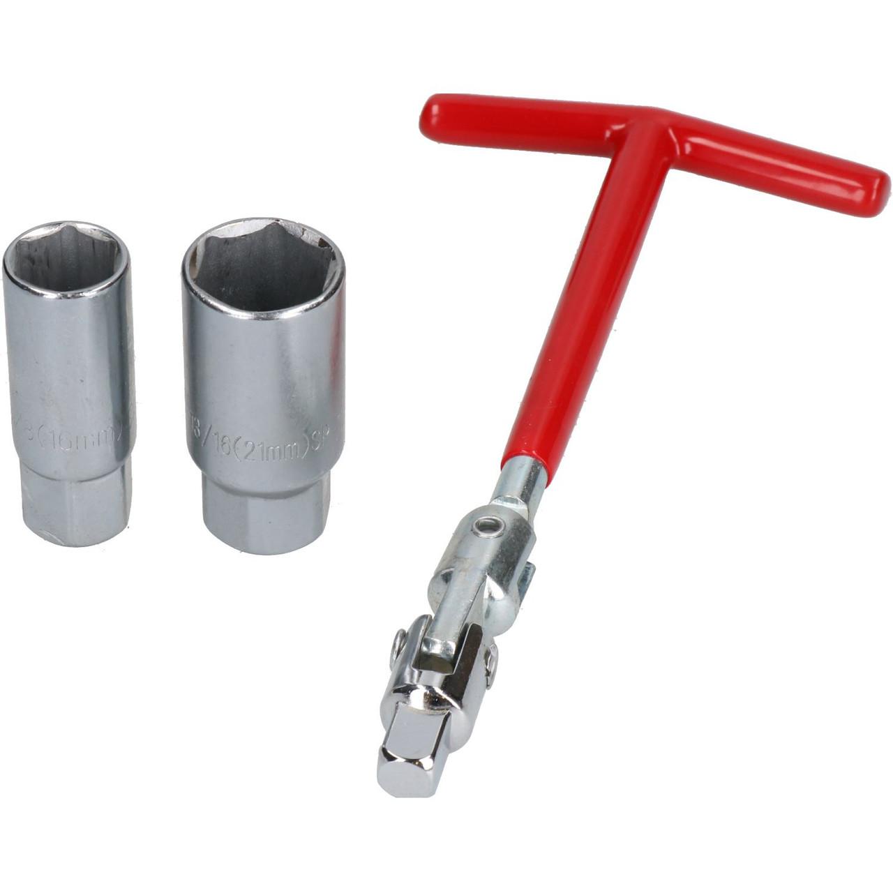 Car 16mm Hex Socket T Bar Handle Spark Plug Wrench Remover Installer