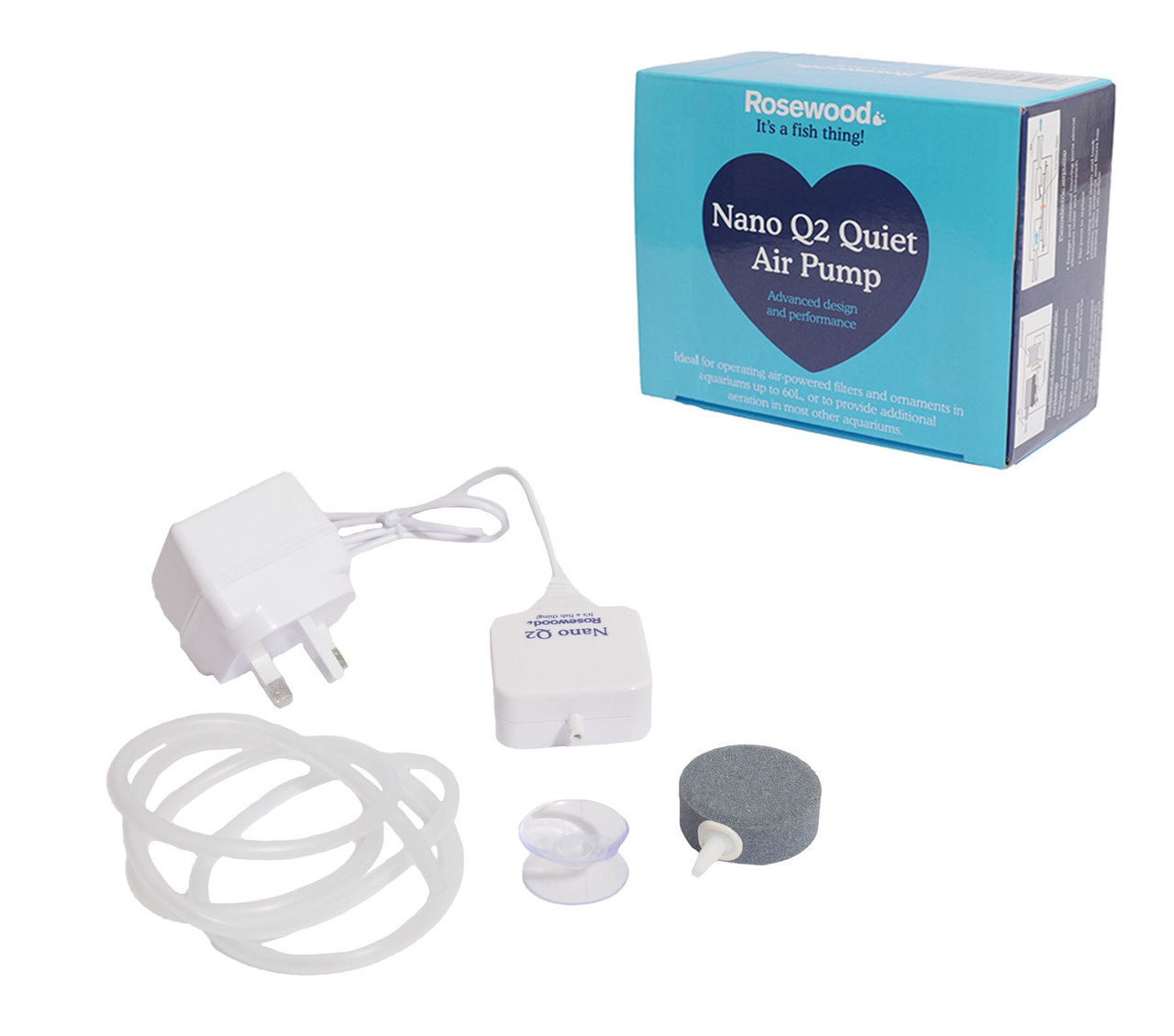 Rosewood Nano Q1 Quiet Air Pump for Aquariums