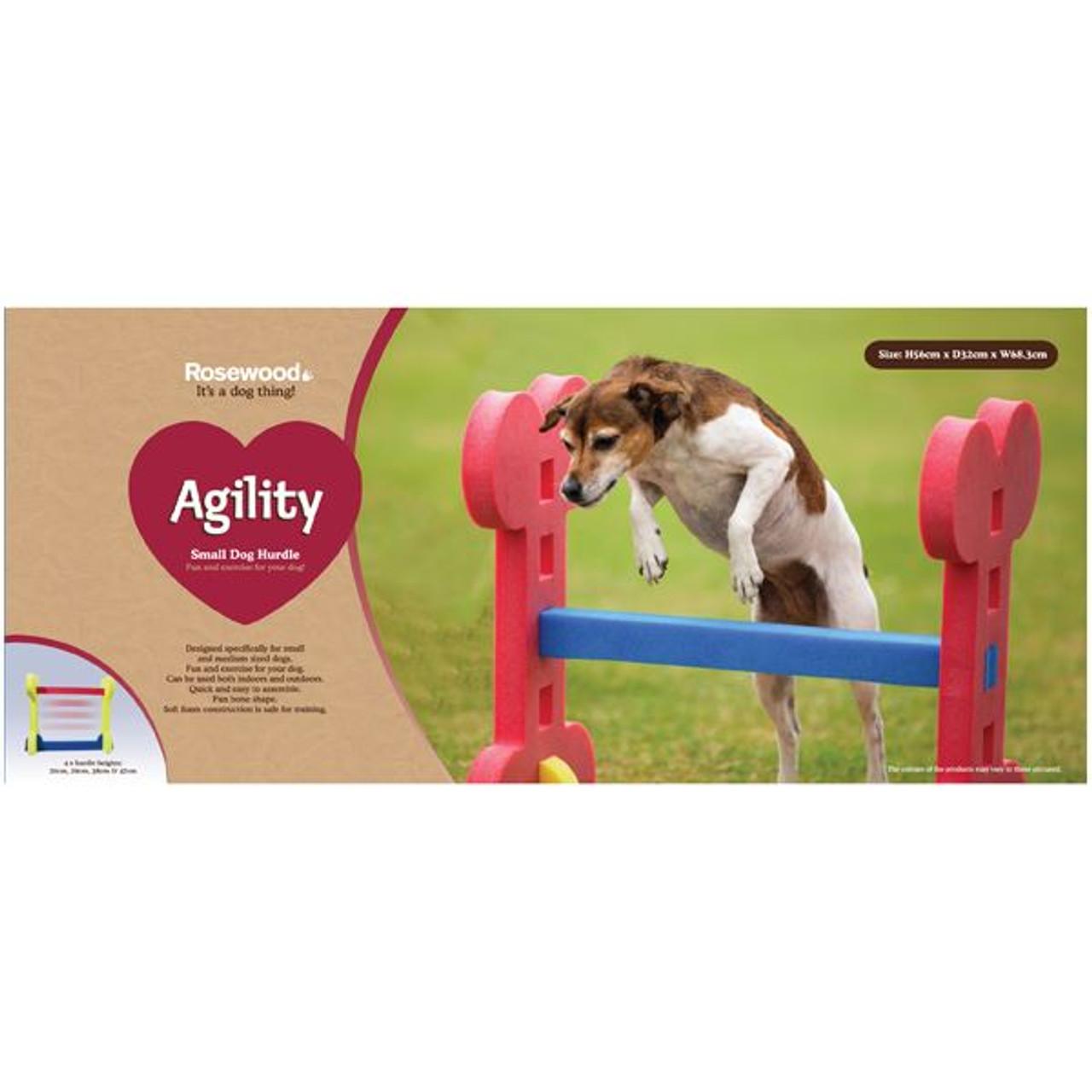 Small Dog Soft Rigid Foam Easy Assemble Agility Hurdle Fun Exercise 32x56cm