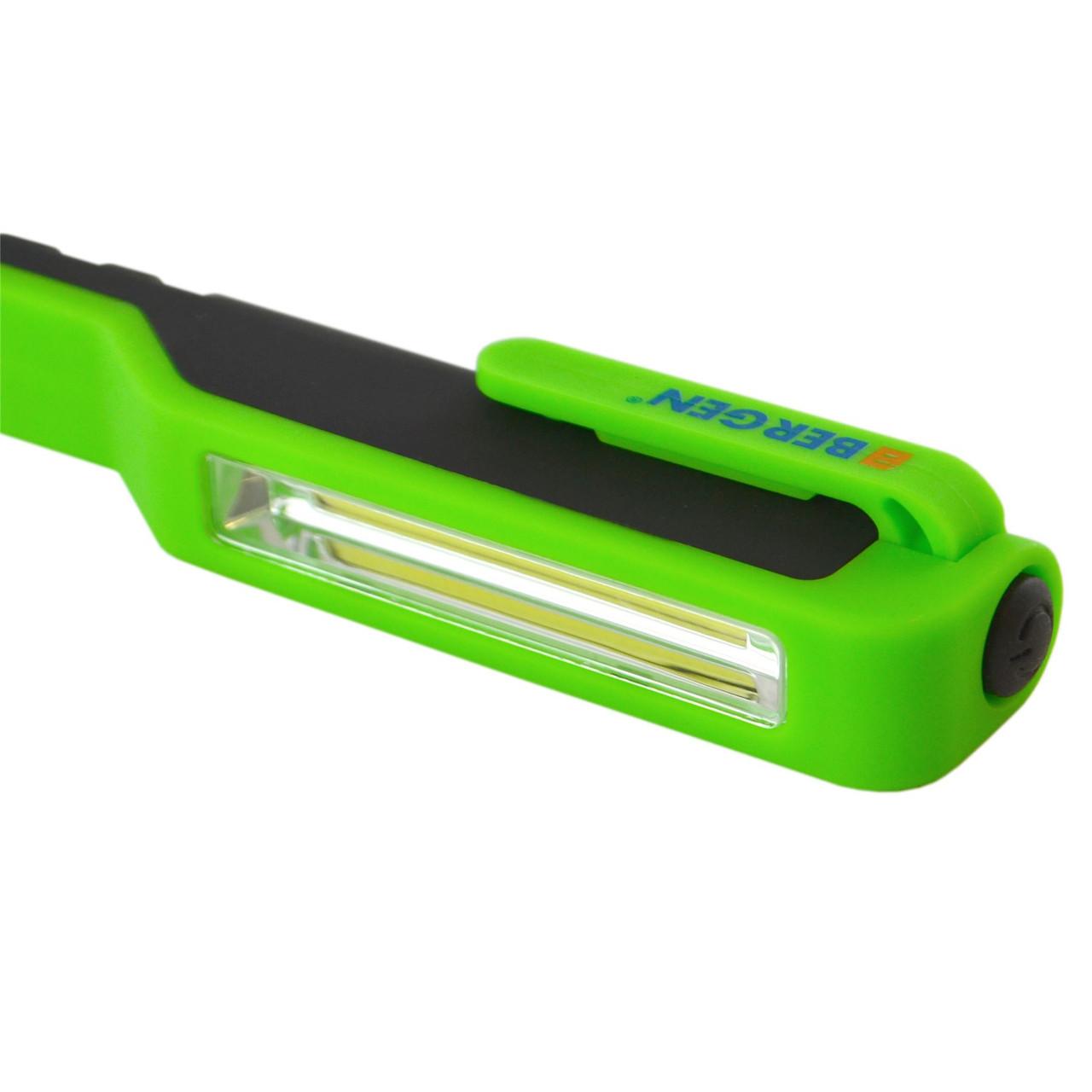 BERGEN Mini COB Inspection Work Hand Lamp Light Torch Pen Pocket Size Flashlight