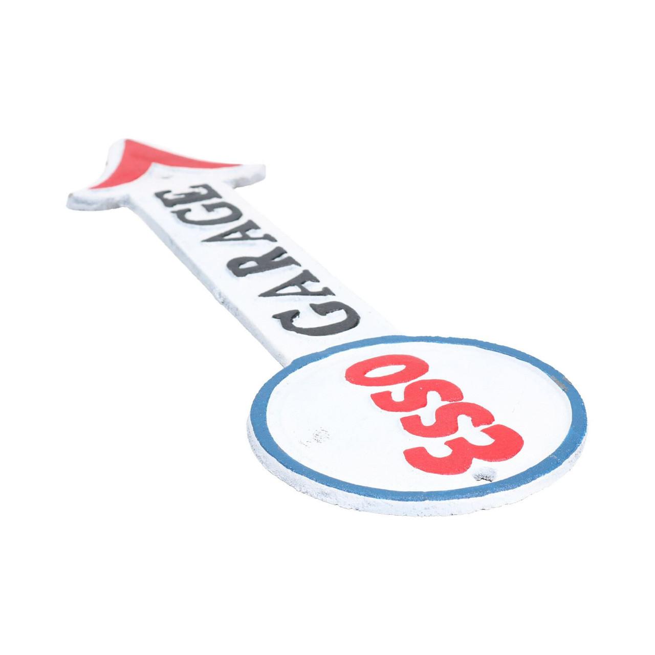 Cast Iron Esso Garage Arrow Plaque