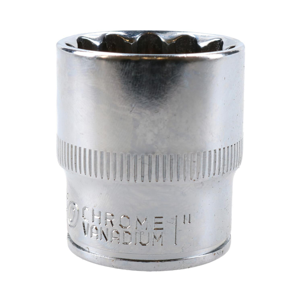 "1"" Imperial SAE Socket 1/2"" Drive 12 Point 36mm Length Chrome Vanadium Steel"
