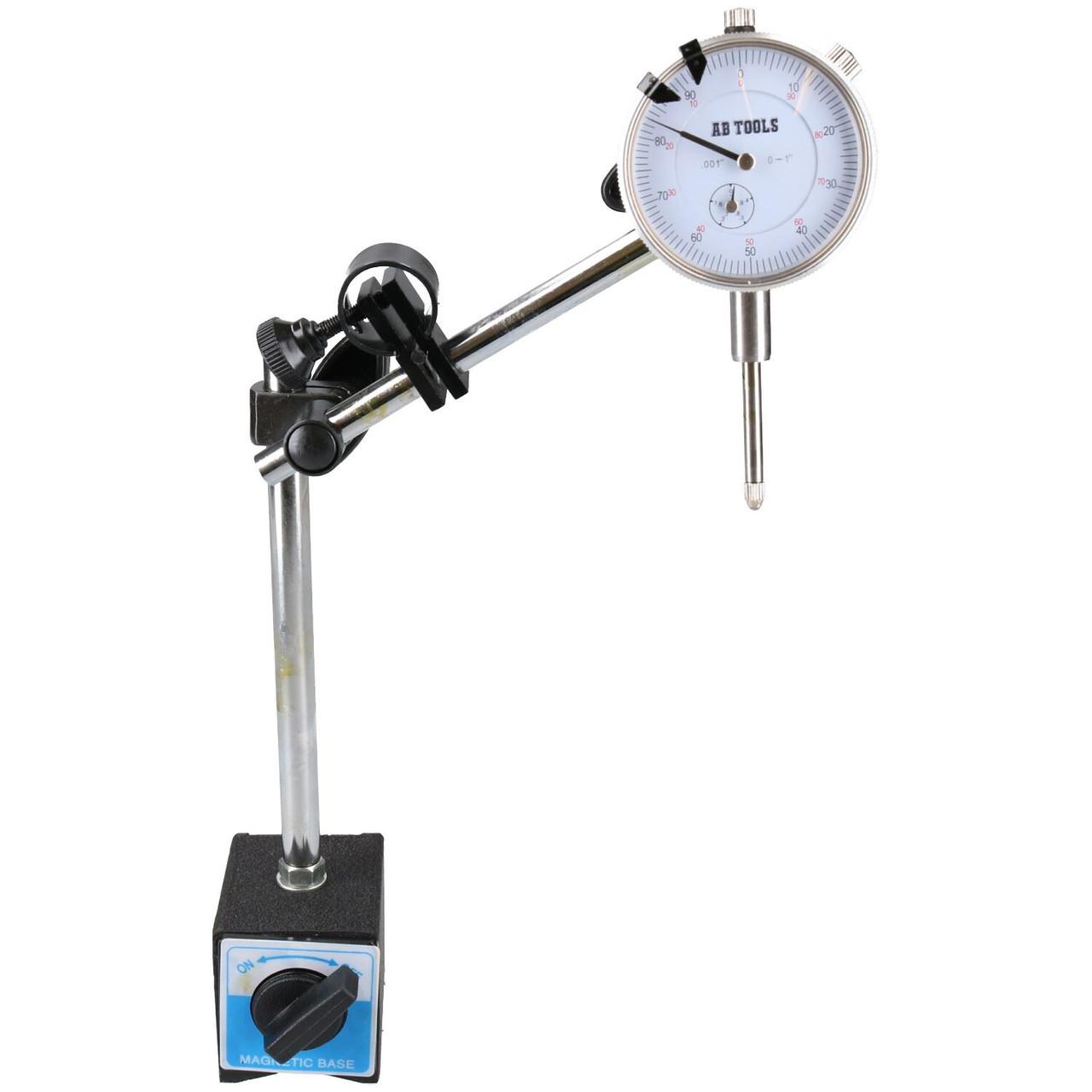 Dial test indicator DTI gauge /& magnetic base stand clock gauge TDC BERGEN