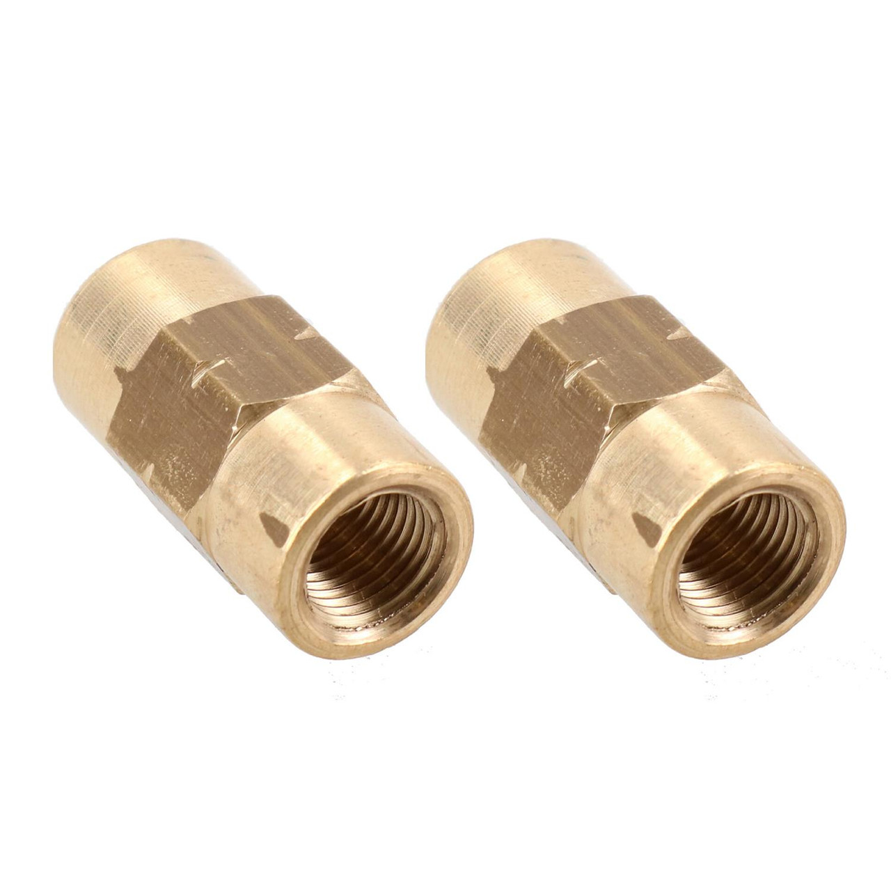 "M10 x 1mm Brass Inline Brake Pipe Fitting Joiner Connector For 3/16"" Pipe 2pc"