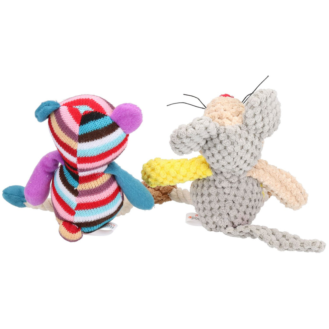 Mister Tilly Teddy & Molly Mouse Dog Toy With Squeak 23cm & 20cm