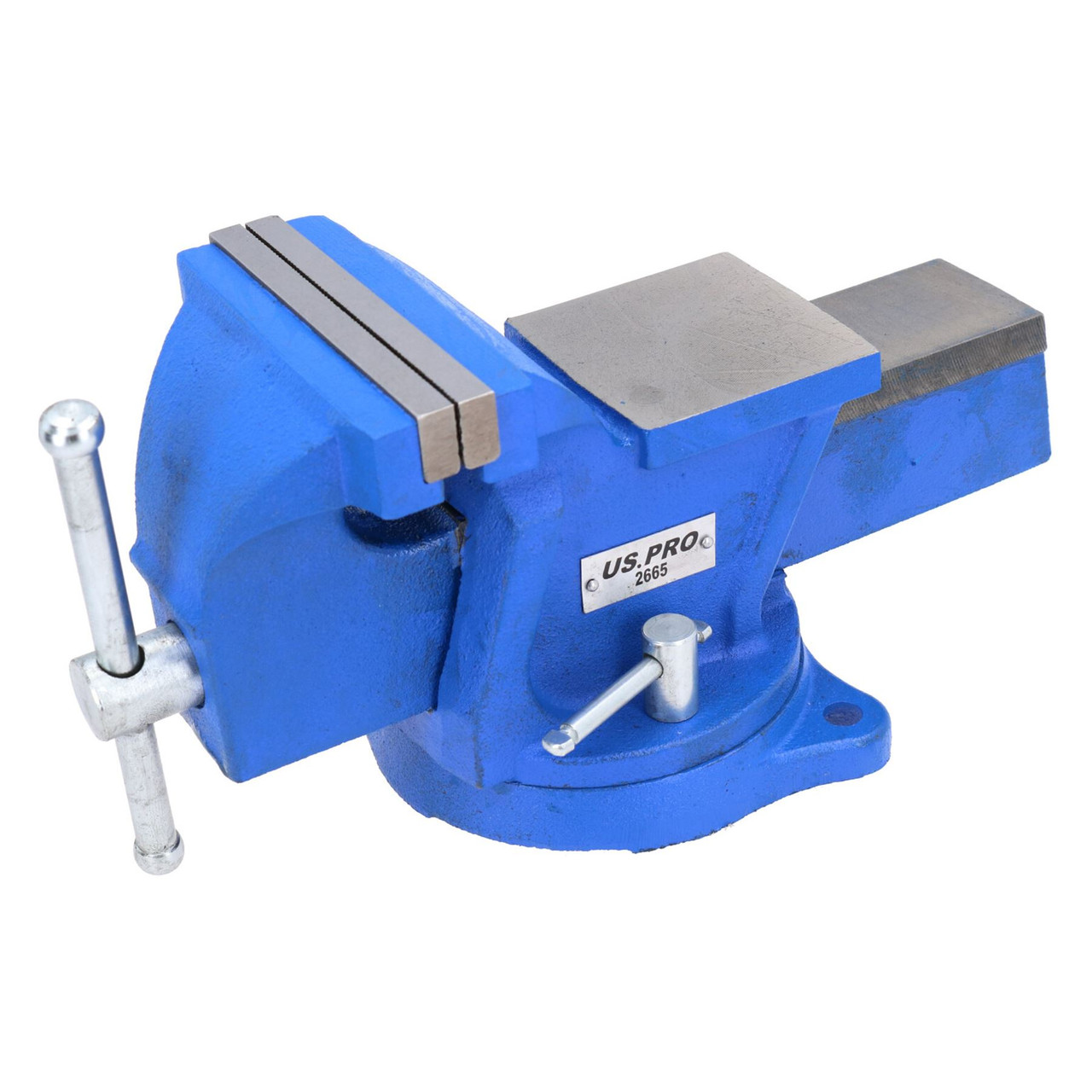 "5"" Heavy Duty Engineer Swivel Bench Vice Vise Clamp Workbench with Anvil"