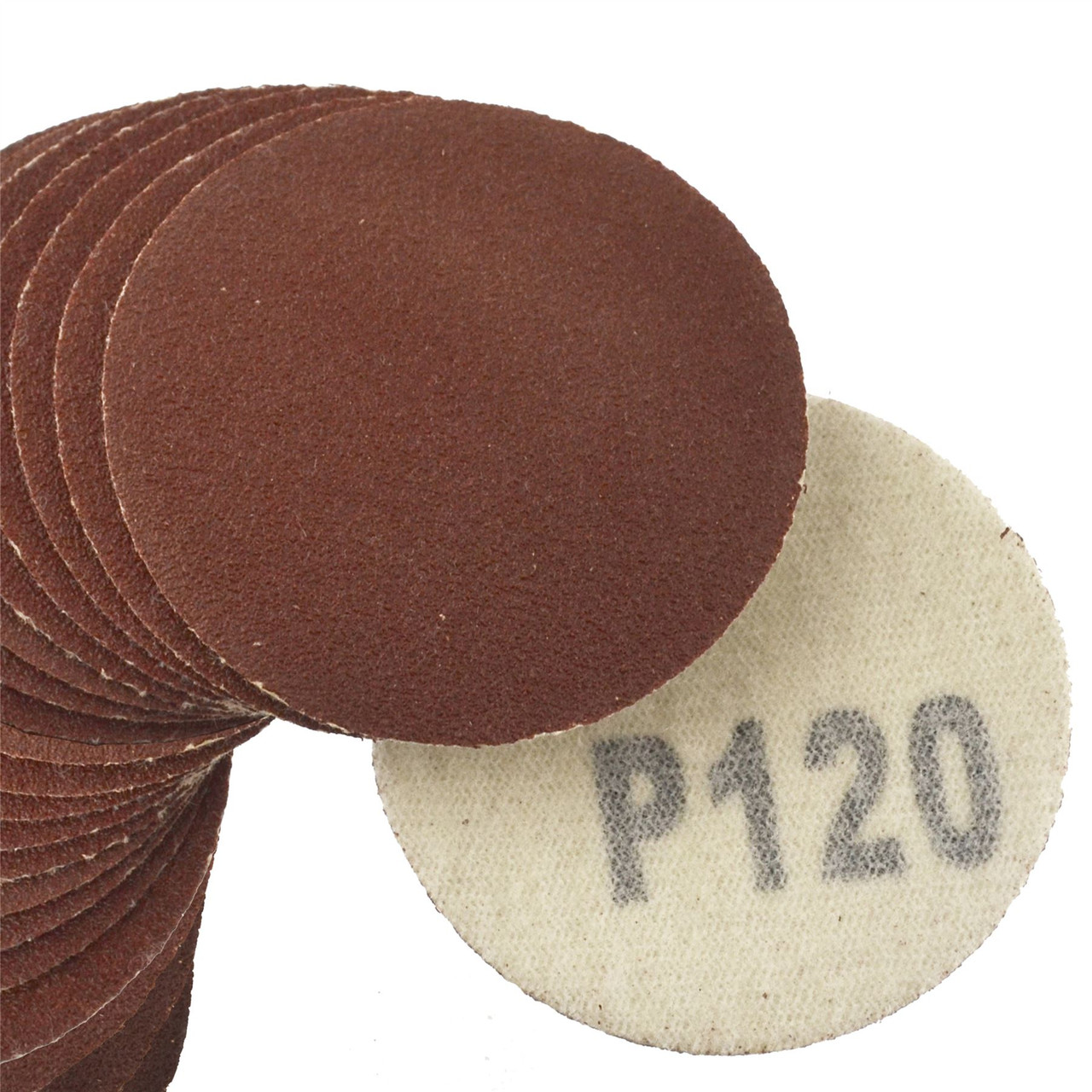 "100 Pack Hook/Loop DA Sanding Grinding Abrasive Pad 120 Grit Discs 2"" (50mm) AT376"