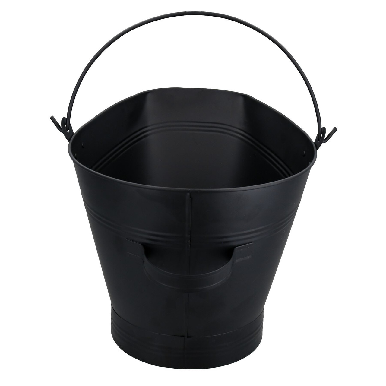 "Fireplace Waterloo Style Scuttle Wide Mouth Bucket + 5"" Wide Coal Hand Shovel"