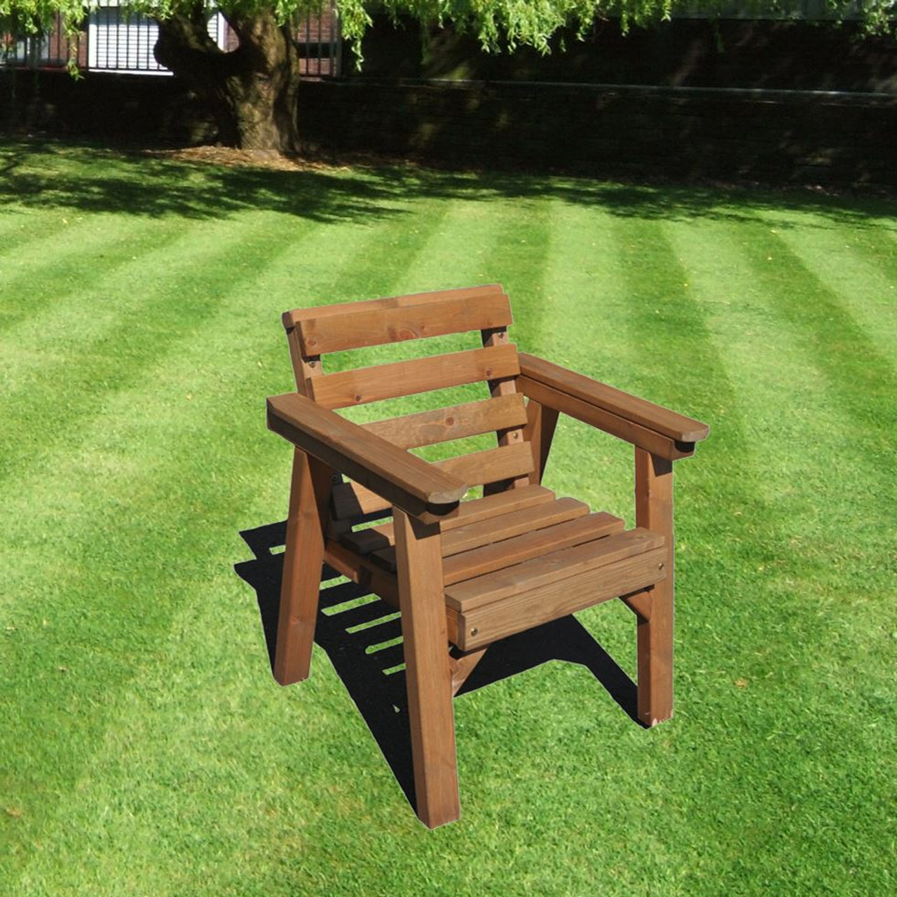 Garden furniture patio set single chair solid wood ab tools online