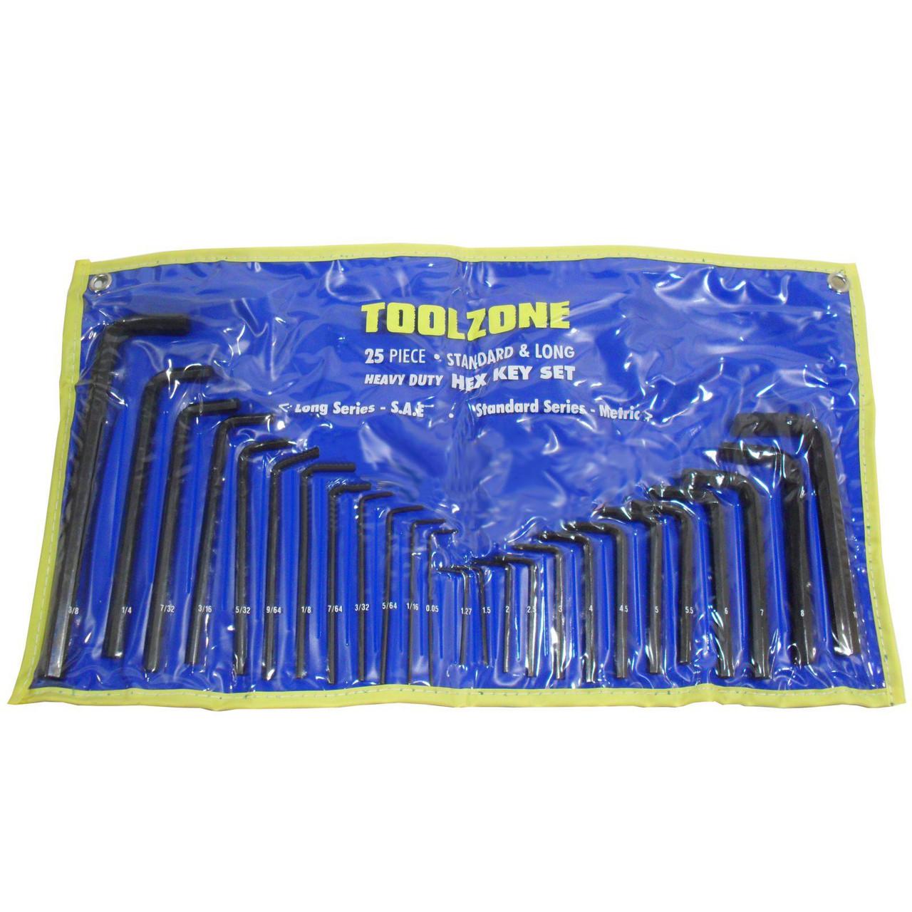 BlueSpot Long Metric Ball Point Hex Allen Key Set Allan Alan 1.27-10mm 13 Pc