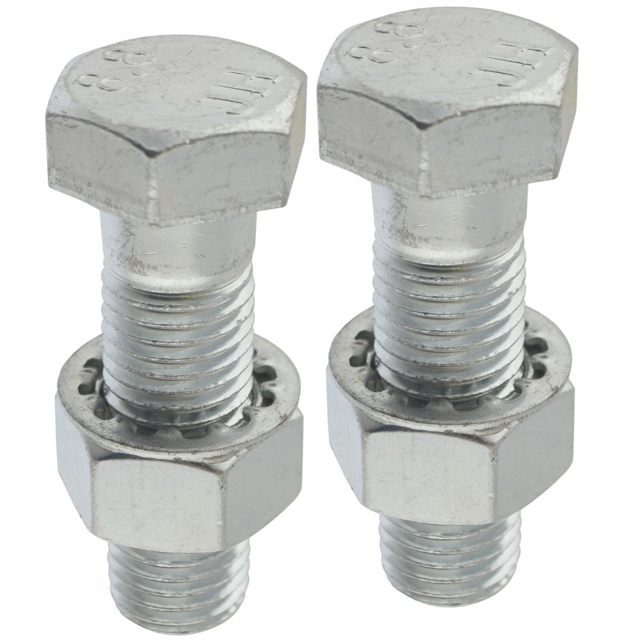 PAIR Tow Bar Tow Ball Bolts 65mm Long C//w Nuts /& Washers 8.8 HIGH TENSILE.