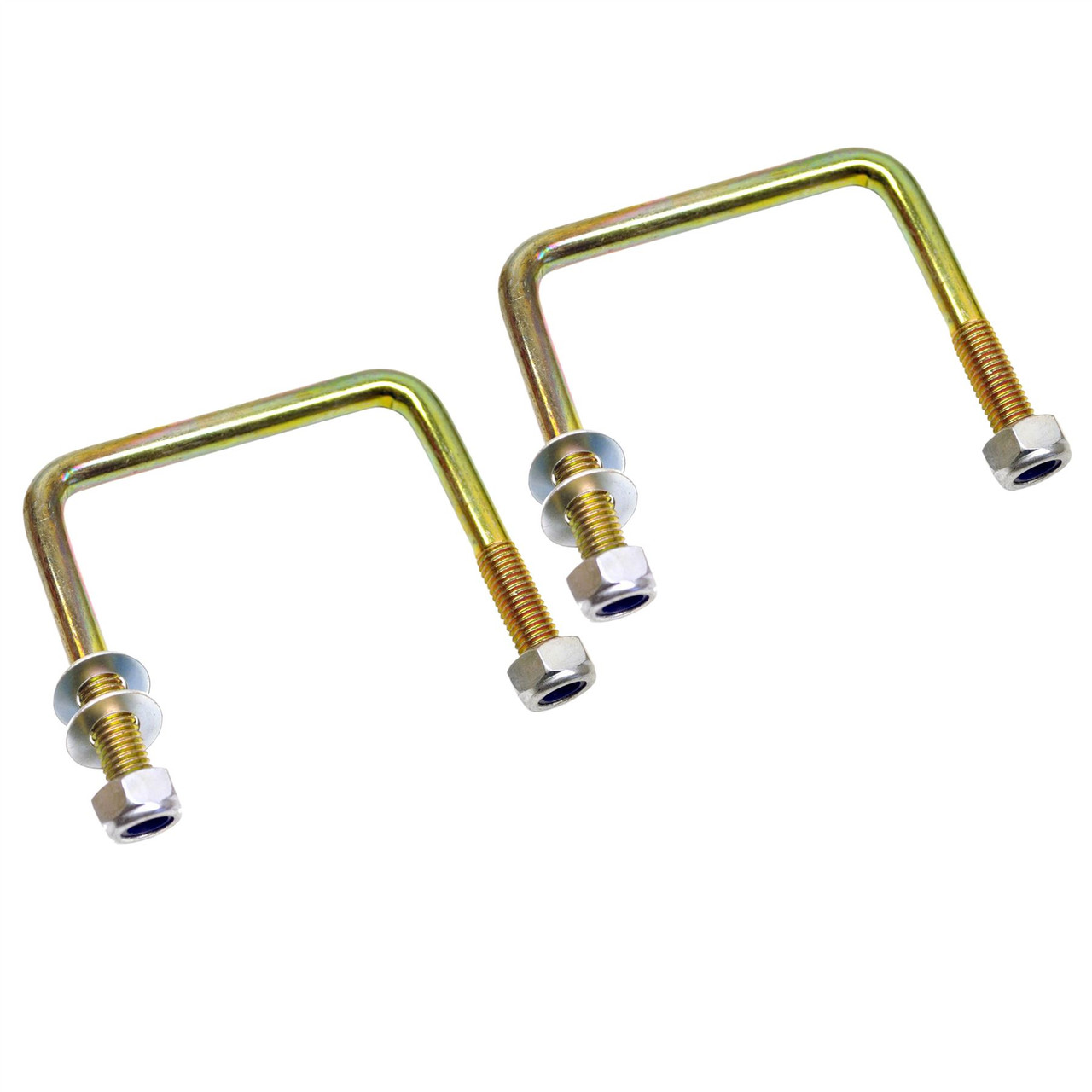M10 80mm x 75mm U-Bolt / N-Bolt for Trailer 1 PAIR with Nuts HIGH TENSILE  UBR13