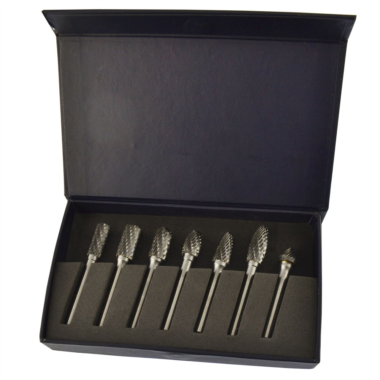 Tungsten carbide burr / rotary files 7pc set / hole enlarger by BERGEN AT173