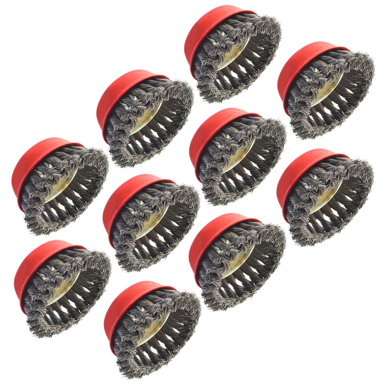 Wire Cup Brush 6 Pack AU028 Wheel for Angle Grinder Crimped Brass Coated