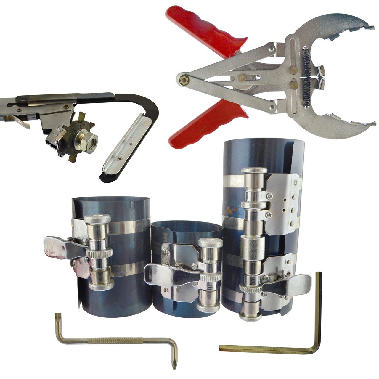 85mm 2//4 Stroke LSR 43 Motorcycle Bike Piston Ring Compressor Tool Set 40mm