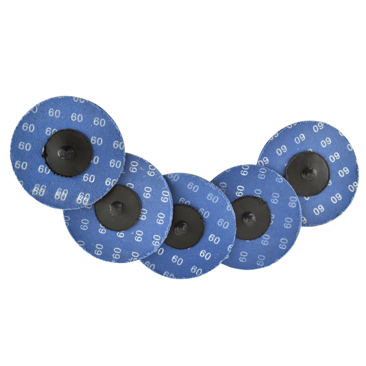 5pk Flap Disc Set 75mm Twist Button Abrasive Discs Sanding 60 Grit SIL152