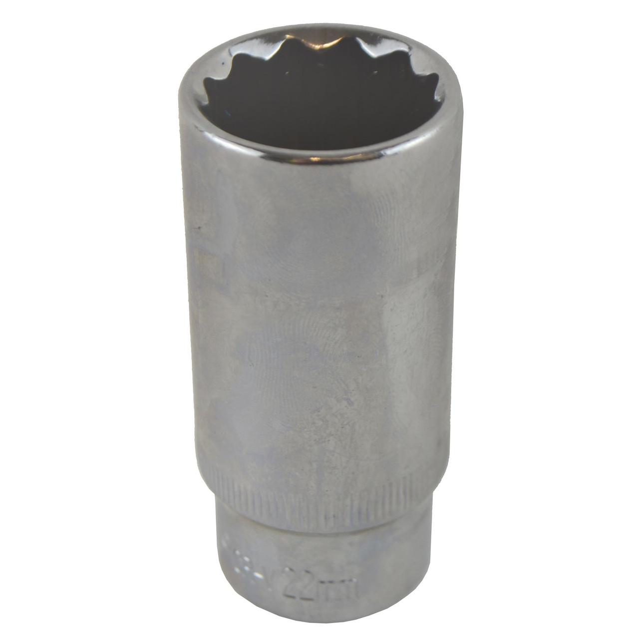 """12 Sided 22mm 3//8/"""" Drive Double Deep Metric Socket Double Hex"""