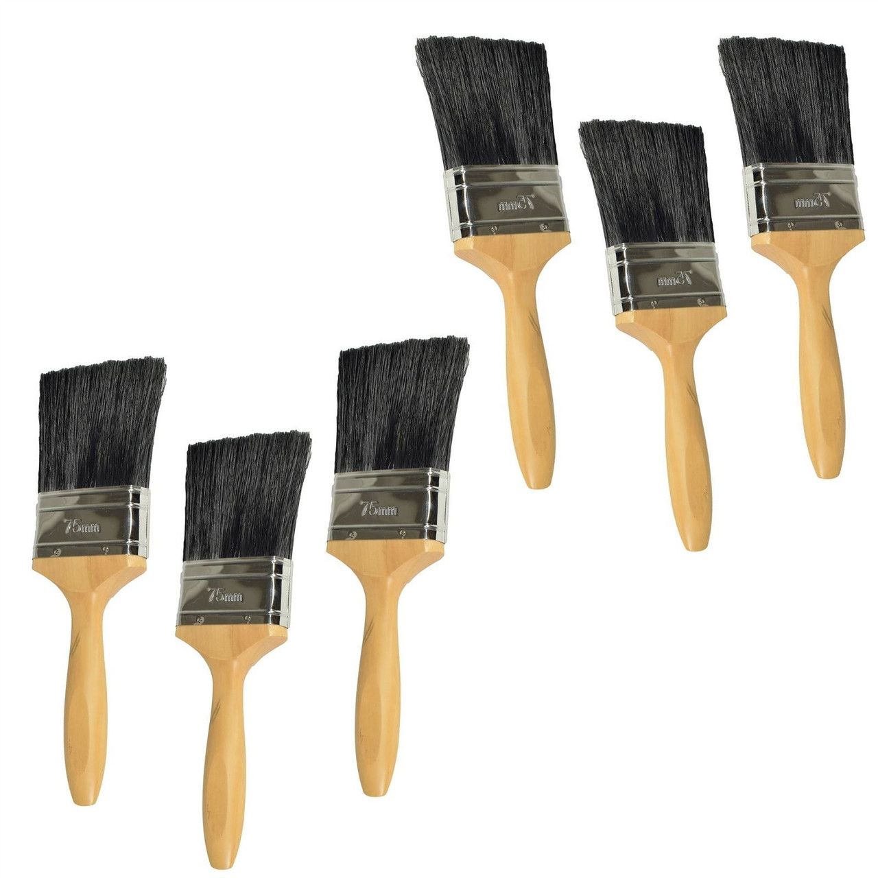 3 x 50mm Painters And Decorators Decorating Paint Painting Brush Wooden Handle