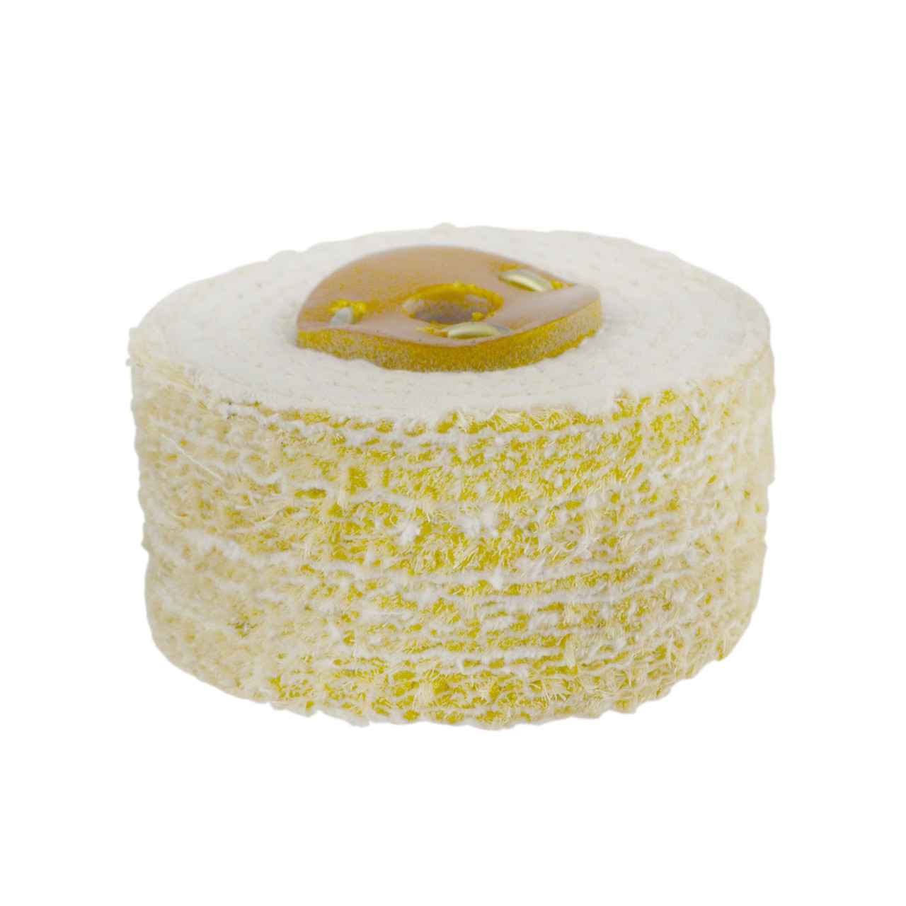 """Coarse Sisal Fast Cut Buffing Polishing Mop 4"""" x 2"""" 4 Section 1st Stage Metal"""