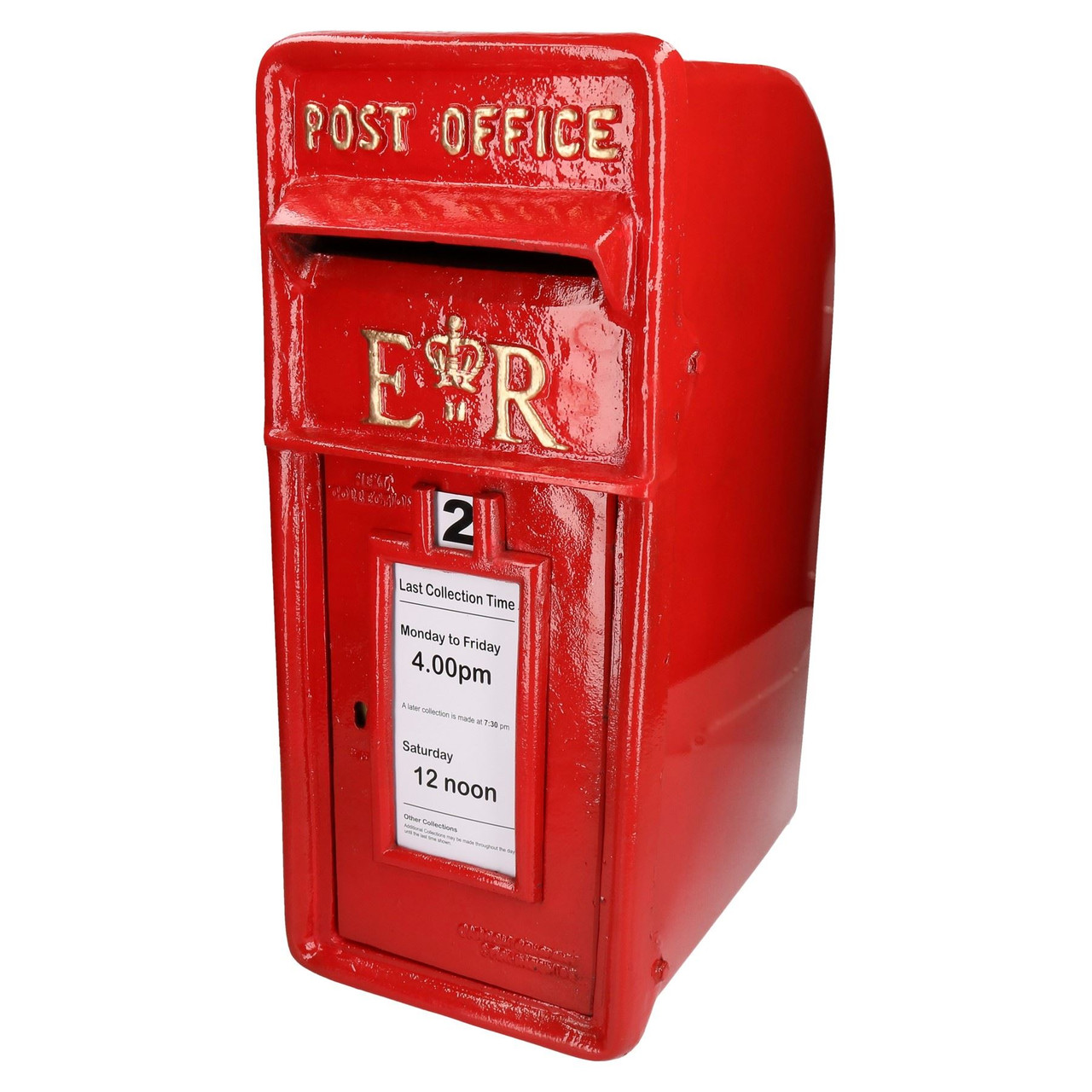 Royal Mail Letter Box.Er Royal Mail Post Letter Box Replica Cast Iron Red Post Office Lockable Gb