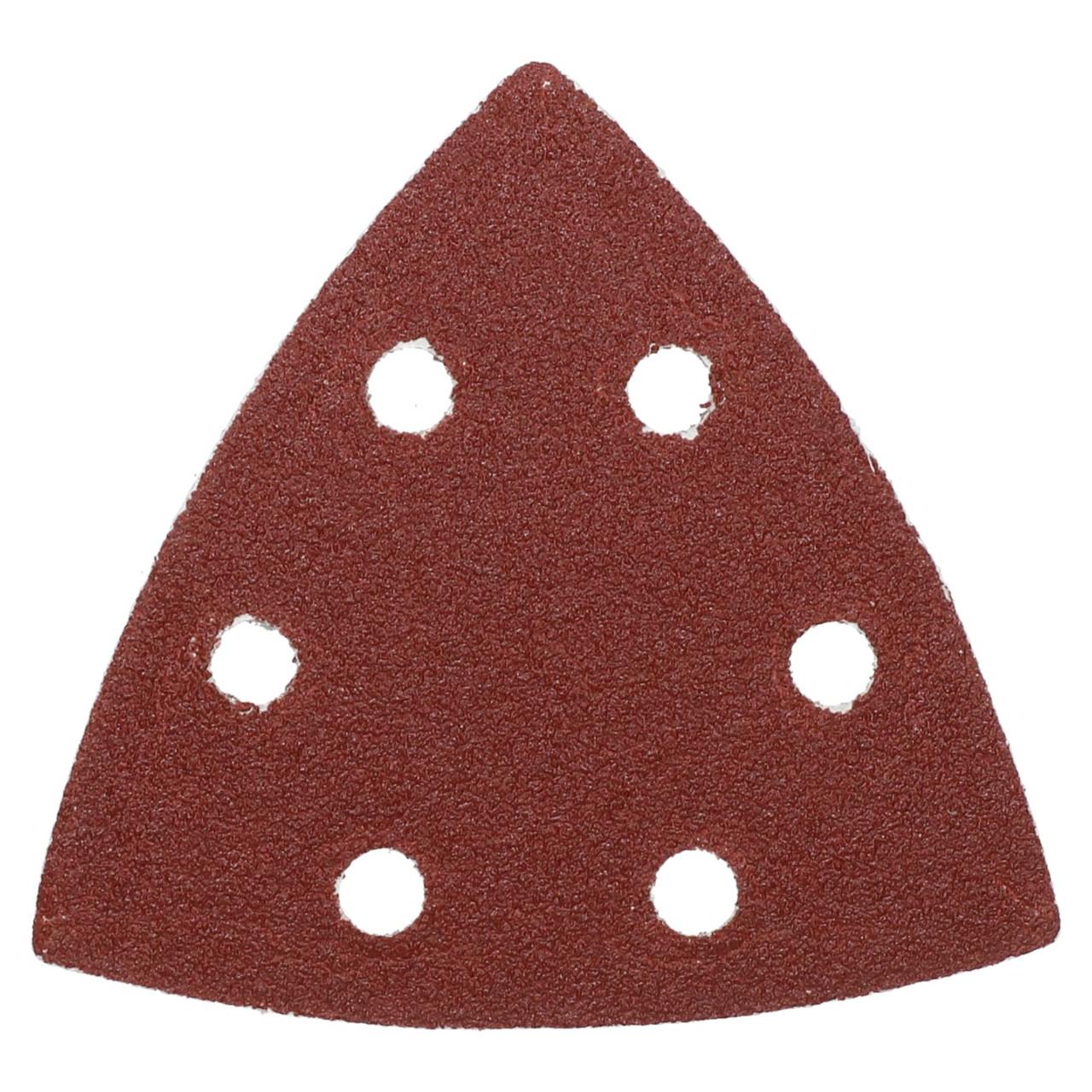 Hook Loop Delta Sanding Abrasive Discs Pads 93mm Triangle 80 Grit Medium 5pc