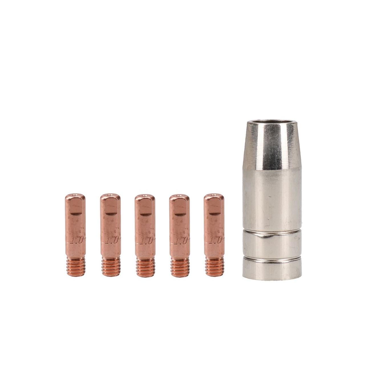 Snap On 130 1x Shroud Nozzle /& 25x 1.0mm Welding Tips Cebora 130 /& 110