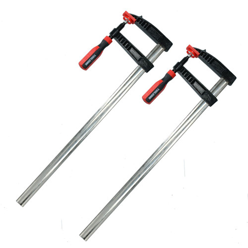 2 x Sliding F Clamps Bar Profile Clamp Holder Fastener Fastening 600mm x 120mm