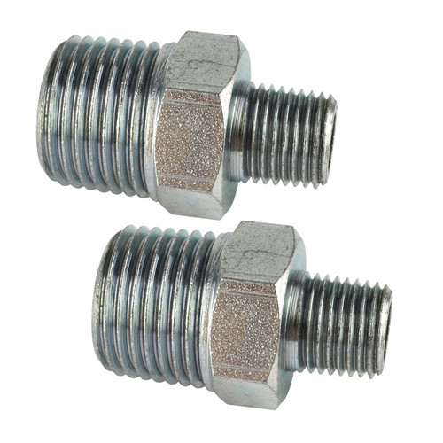 """1/4"""" BSP Male to 3/8"""" BSP Male Step Up / Down Union Air Fittings 2 PACK FT046"""